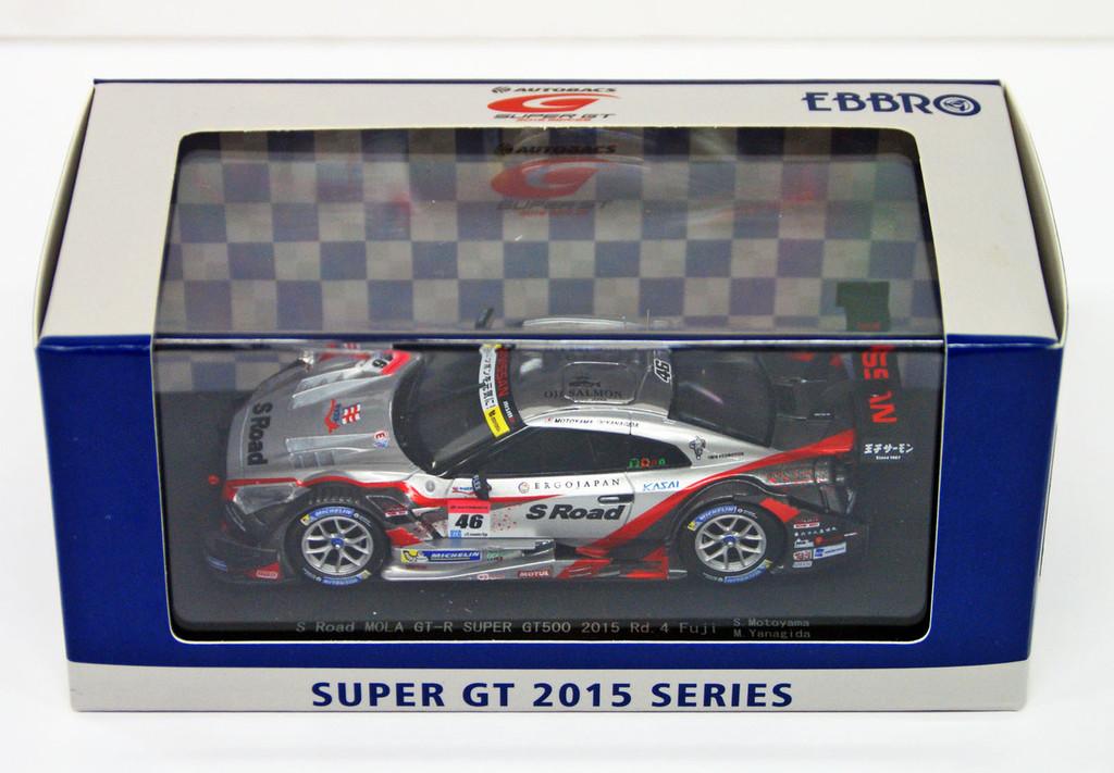 Ebbro 45279 S Road MOLA GT-R SUPER GT500 2015 Rd.4 Fuji No.46 Silver