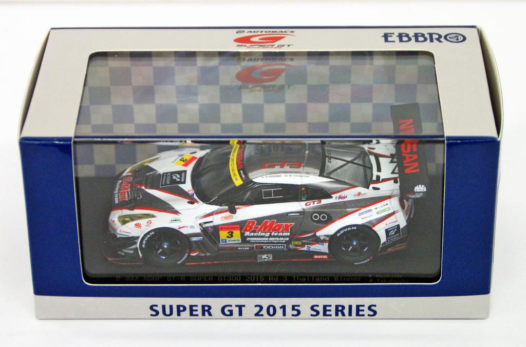 Ebbro 45290 B-MAX NDDP GT-R SUPER GT300 2015 Rd.3 Thailand Winner No.3 WH/SL