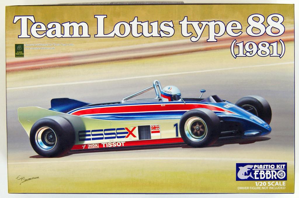 Ebbro 20011 Team Lotus Type 88 1981 1/20 Scale plastic model Kit
