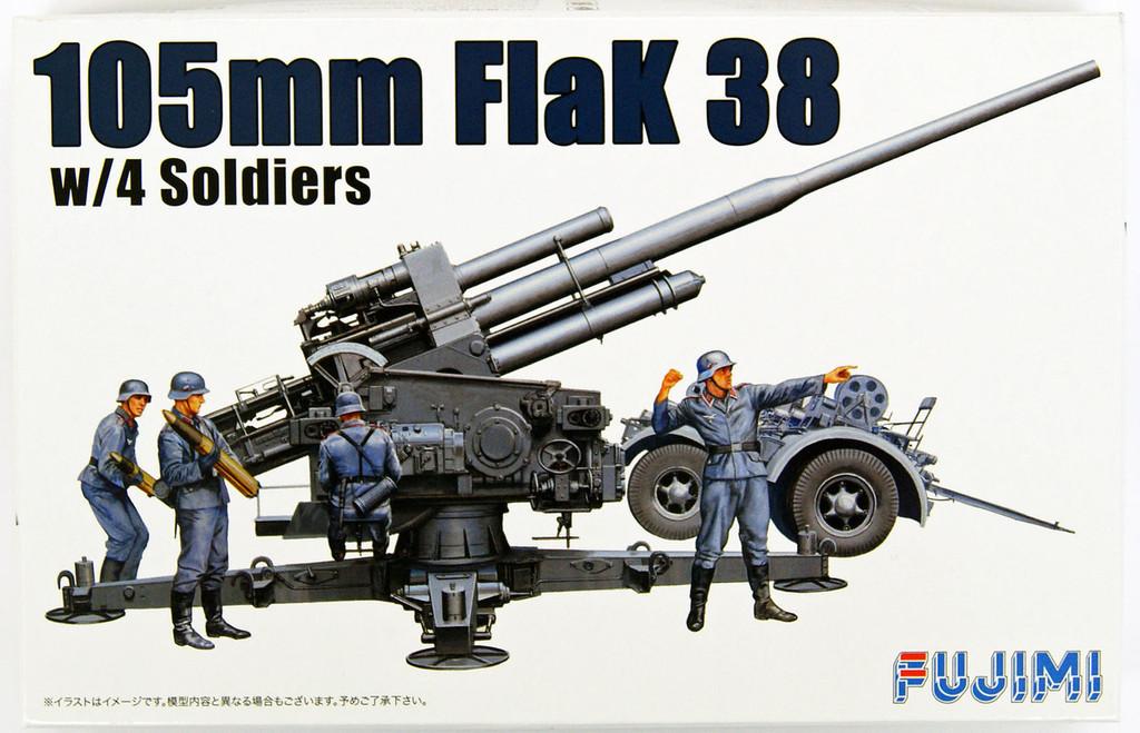 Fujimi WA24 World Armor 105mm FlaK 38 w/4 Soldiers 1/76 Scale Kit