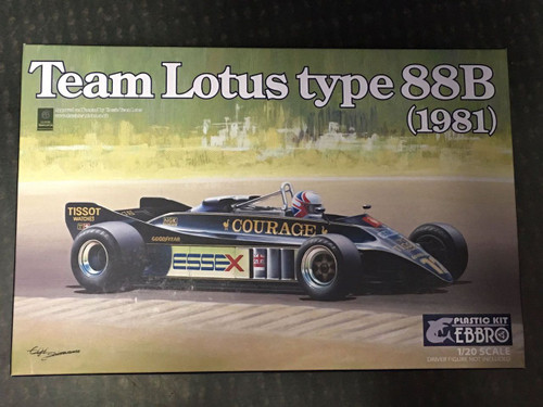 Ebbro 20010 Team Lotus Type 88B 1981 1/20 Scale plastic model Kit