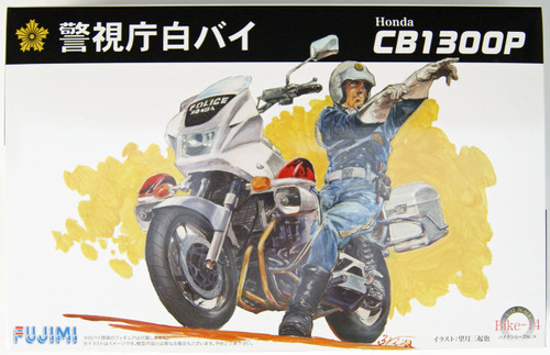 Fujimi Bike-14 Honda CB1300P Police Motorcycle (White) 1/12 Scale Kit 141664