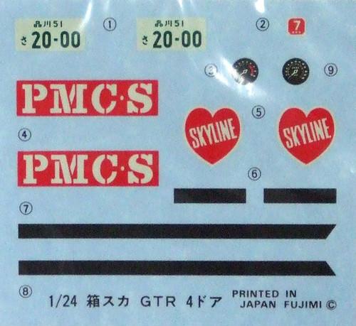 Fujimi ID-3 Nissan Skyline GT-R PGC10 1969 1/24 Scale Kit