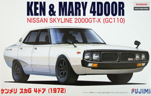 Fujimi ID-5 Nissan Skyline 2000 GT-X (GC110) Ken & Mary 4 door 1/24 Scale Kit