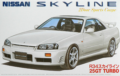 Fujimi ID-16 Nissan Skyline 25GT Turbo (R34) 1/24 Scale Kit 034430