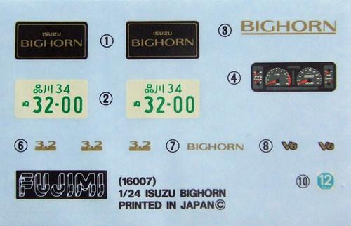 Fujimi ID-51 Isuzu Bighorn 2nd Generation 1/24 Scale Kit
