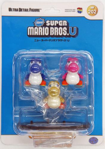 Medicom UDF-202 Ultra Detail Figure Nintendo New Super Mario Bros. U Yoshi 3 pcs