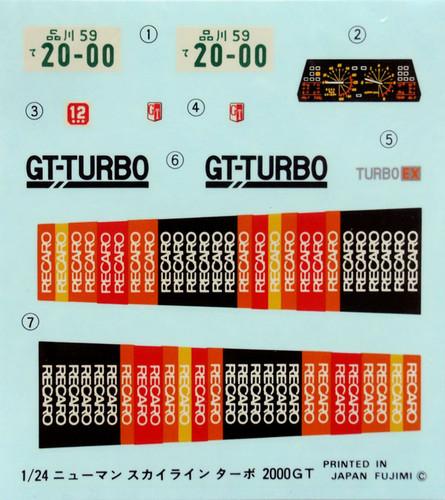 Fujimi ID-73 Nissan Skyline 2000 Turbo GT-EX HR30 1/24 Scale Kit