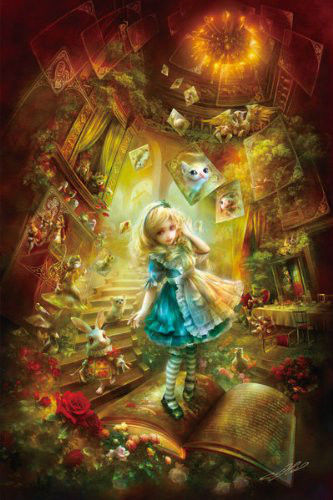 APPLEOne Jigsaw Puzzle 108-078 Alice in Wonderland (108 Pieces)