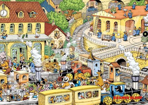 Ensky Jigsaw Puzzle 108-598 RASMUS KLUMP Station (108 Pieces)