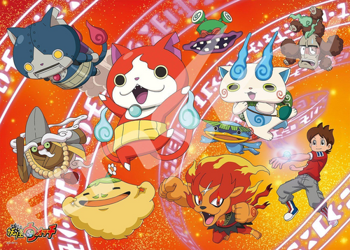 Ensky Jigsaw Puzzle 300-L393 Japanese Anime Yo-Kai Watch (300 L-Pieces)