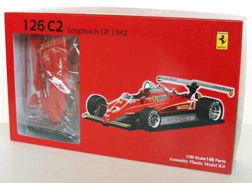 Fujimi GP2 090337 F1 Ferrari 126C2 Long Beach GP 1/20 Scale Kit 090337