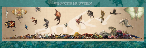 Ensky Jigsaw Puzzle 950-41 Monster Hunter X (cross) Simplified Chart(950 Pieces)