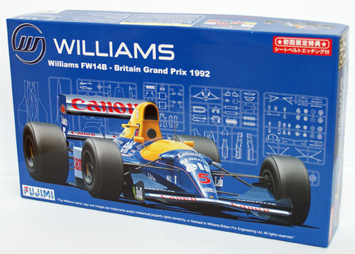 Fujimi GP17 090528 F1 Williams FW14B Britain GP 1/20 Scale Kit 090528