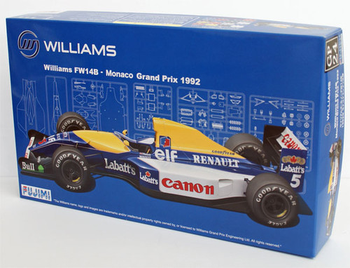 Fujimi GP24 090702 F1 Williams FW14B Monaco GP 1992 1/20 Scale Kit