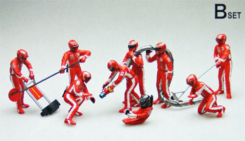 Fujimi GT21 112459 Pit Crew Set B 1/20 Scale Kit (GARAGE & TOOL SERIES No.21)