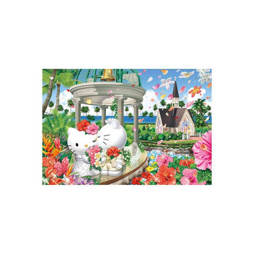 Beverly Jigsaw Puzzle 31-395 Sanrio Hello Kitty Hawaiian Wedding (1000 Pieces)