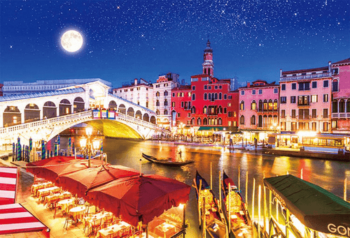 Beverly Jigsaw Puzzle 31-469 World Heritage Moonlight Venice (1000 Pieces)