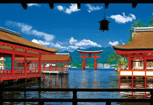Beverly Jigsaw Puzzle 33-124 Japanese Scenery Itsukushima Shrine (300 Pieces)