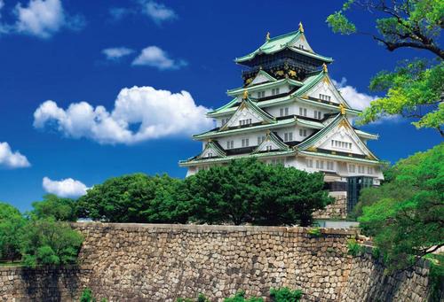Beverly Jigsaw Puzzle 51-196 Japanese Scenery Osaka Castle (1000 Pieces)