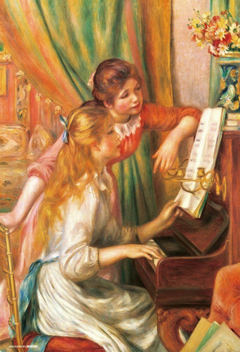 Beverly Jigsaw Puzzle 93-107 Girls Playing Piano (300 Pieces)