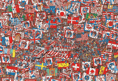 Beverly Jigsaw Puzzle L74-121 Where's Wally? Big Party (150 L-Pieces)