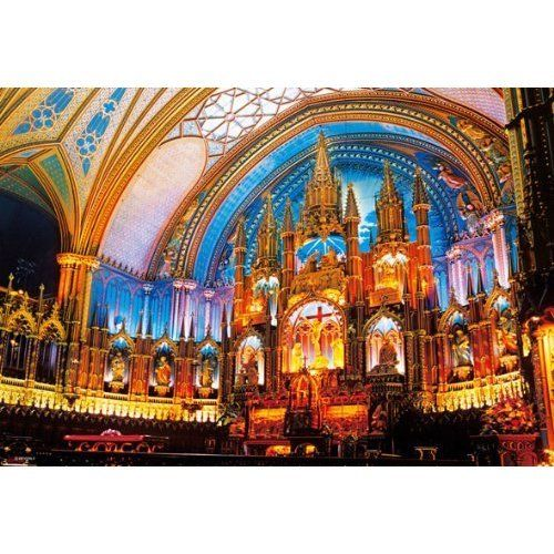 Beverly Jigsaw Puzzle M71-829 Notre-Dame Basilica (Montreal) (1000 S-Pieces)