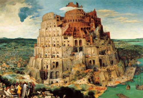 Beverly Jigsaw Puzzle M71-869 Tower of Babel (1000 S-Pieces)