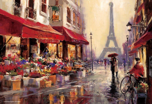 Beverly Jigsaw Puzzle M81-542 Brent Heighton April in Paris (1000 S-Pieces)
