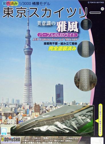 Doyusha 004692 Tokyo Sky Tree w/ LED light MIYABI 1/3000 Scale Plastic Model Kit
