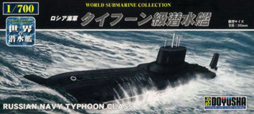 Doyusha 301494 Russian Navy Typhoon Class 1/700 Scale Plastic Kit