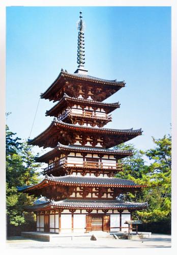 Fujimi Tatemono-6 Yakushi-ji Temple (The East Pagoda) 1/100 Scale Kit