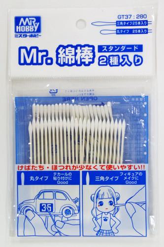 GSI Creos Mr.Hobby GT37 Mr. Cotton Swab (Round and Triangular Type)