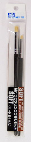 GSI Creos Mr.Hobby MB31 Mr. Weathering Brush Set Soft (Large & Small Brush)