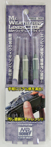 GSI Creos Mr.Hobby PP203 Mr. Weathering Liner (3 Colors Pen)