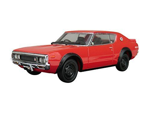 Aoshima DISM 80382 Nissan Skyline HT 2000GT-R Red 1/43 Scale