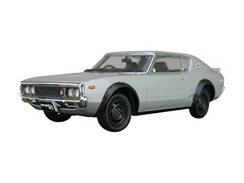 Aoshima DISM 80412 Nissan Skyline HT 2000GT-R Silver Metallic 1/43 Scale