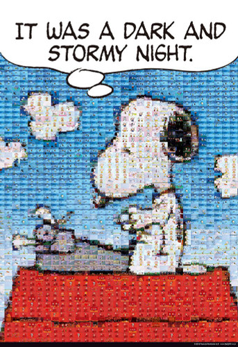 Beverly Jigsaw Puzzle 83-083 Peanuts Snoopy Mosaic Art (300 Pieces)