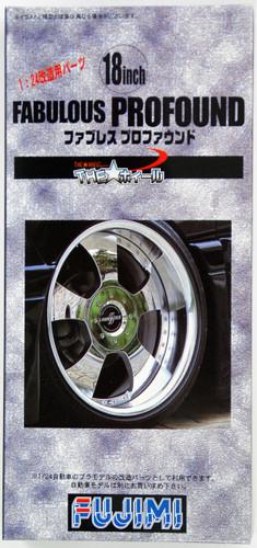 Fujimi TW31 Fabulous Profound Wheel & Tire Set 18 inch 1/24 Scale Kit