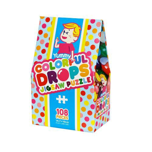 Beverly Jigsaw Puzzle M108-192 Candy Collection Colorful Drops (108 S-Pieces)