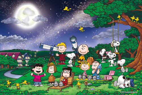 Epoch Jigsaw Puzzle 12-048s Peanuts Snoopy Under The Full Moon (1000 Pieces)