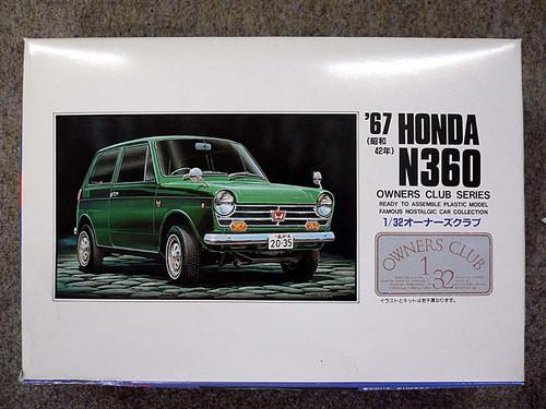 Arii Owners Club 1/32 05 1967 Honda N360 1/32 Scale Kit (Microace)
