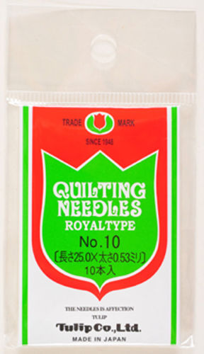 Tulip TQ-010 Quilting Needles Royal Type No.10 (10 pcs / 0.53 x 25.0mm)