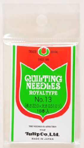 Tulip TQ-011 Quilting Needles Royal Type No.13 (10 pcs / 0.51 x 22.0mm)