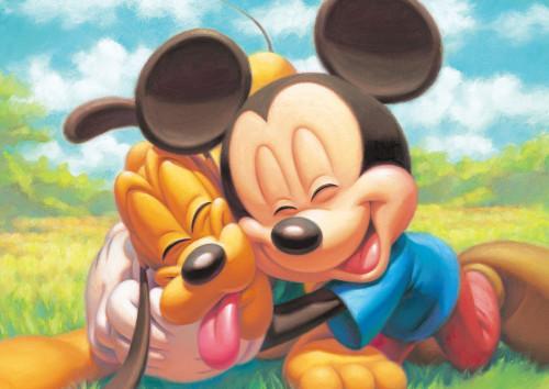 Tenyo Japan Jigsaw Puzzle DSG-266B-788 Disney Mickey Mouse & Pluto (266 Pieces)