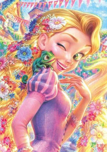 Tenyo Japan Jigsaw Puzzle DSG-266B-791 Disney Tangled Rapunzel Pascal (266 Pcs)