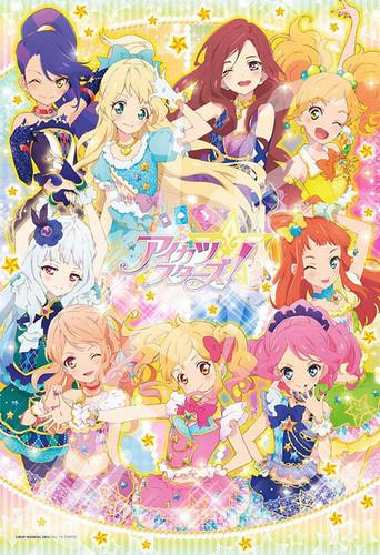 Ensky Jigsaw Puzzle 108-L571 Japanese Anime Aikatsu Stars (108 L-Pieces)