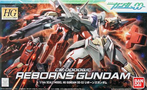 Bandai HG OO 53 Gundam CB-0000GIC REBORNS Gundam 1/144 Scale Kit