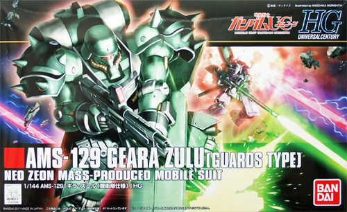 Bandai HGUC 122 Gundam AMS-129 GEARA ZULU (GUARDS TYPE) 1/144 Scale Kit