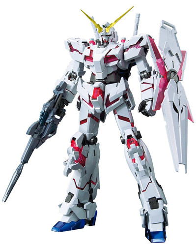 Bandai MG 150893 Gundam Unicorn Gundam Red/Green Frame Twin Frame Ed. Titanium Finish 1/100 Scale Kit